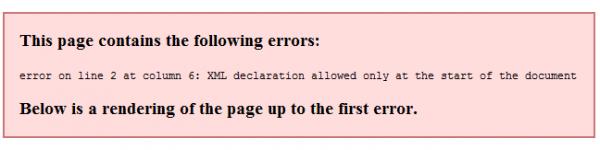 sitemap error on line 2 at column 6 wanttono