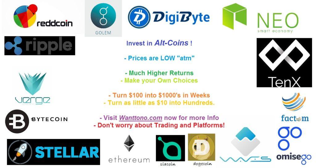 no bitcoin buy altcoins -wanttono
