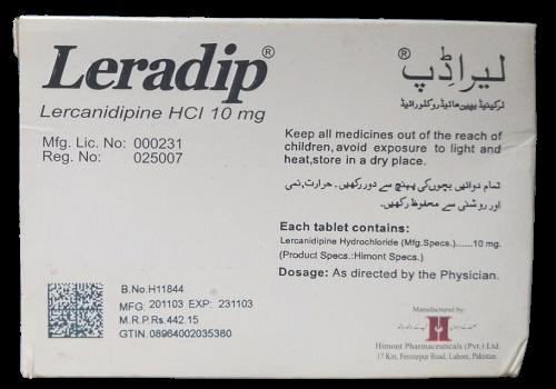 Leradip back