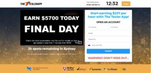 tesler app scam